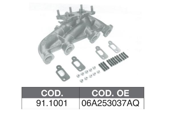 Collecteur d'echappement ASSO 91.1001 (X1)