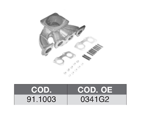 Collecteur d'echappement ASSO 91.1003 (X1)
