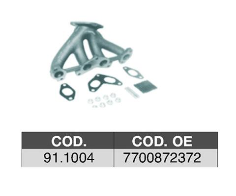 Collecteur d'echappement ASSO 91.1004 (X1)