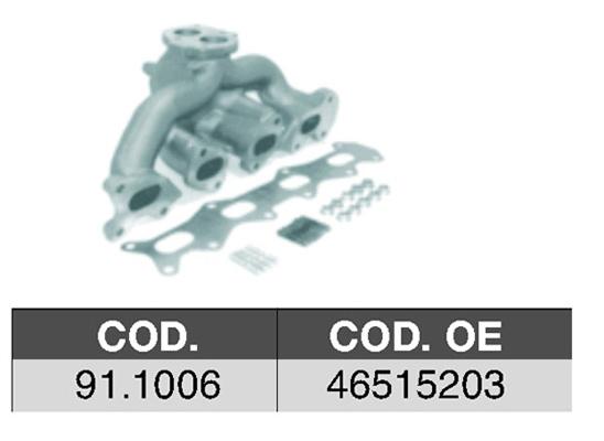 Collecteur d'echappement ASSO 91.1006 (X1)