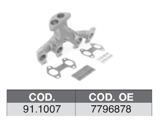 Collecteur d'echappement ASSO 91.1007 (X1)