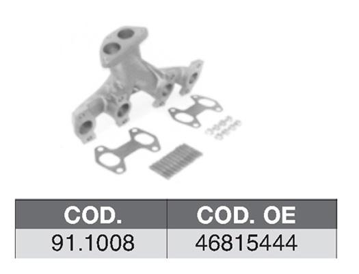 Collecteur d'echappement ASSO 91.1008 (X1)