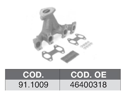 Collecteur d'echappement ASSO 91.1009 (X1)
