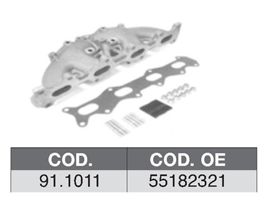 Collecteur d'echappement ASSO 91.1011 (X1)