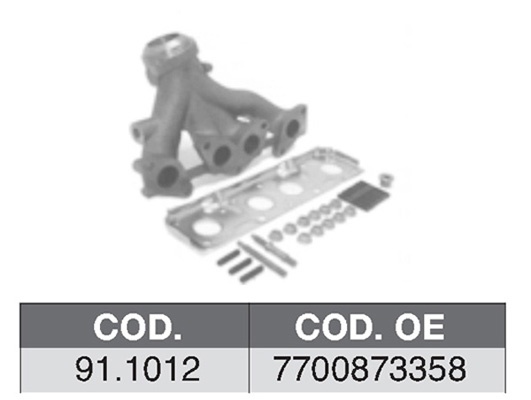 Collecteur d'echappement ASSO 91.1012 (X1)