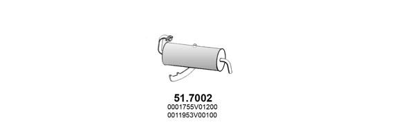 Silencieux, catalyseur, intermediaire ASSO ART2941 (X1)
