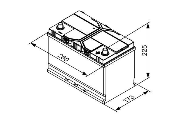 Batterie BOSCH 0 092 S4E 410 (X1)