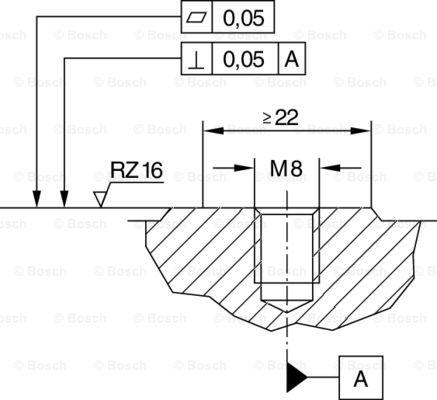 Capteur de cliquetis BOSCH 0 261 231 173 (X1)