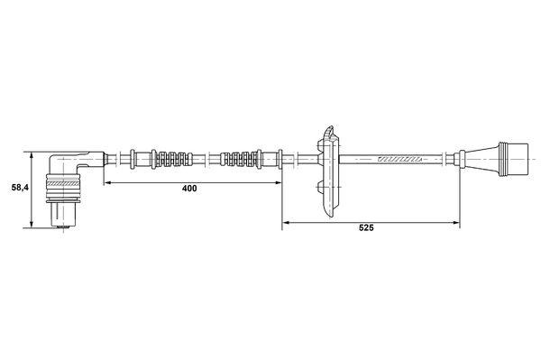 Capteur ABS BOSCH 0 265 001 282 (X1)