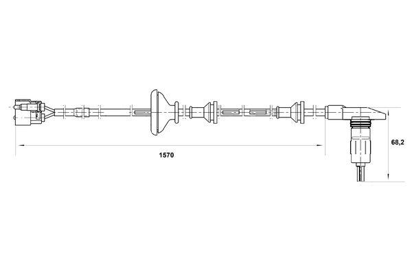 Capteur ABS BOSCH 0 265 001 380 (X1)