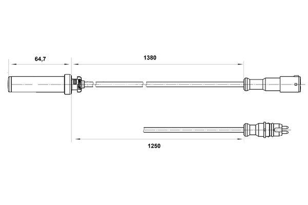 Capteur ABS BOSCH 0 265 004 015 (X1)