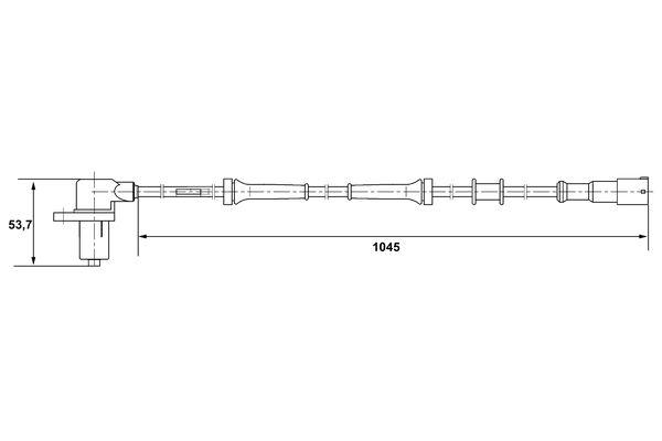 Capteur ABS BOSCH 0 265 006 162 (X1)