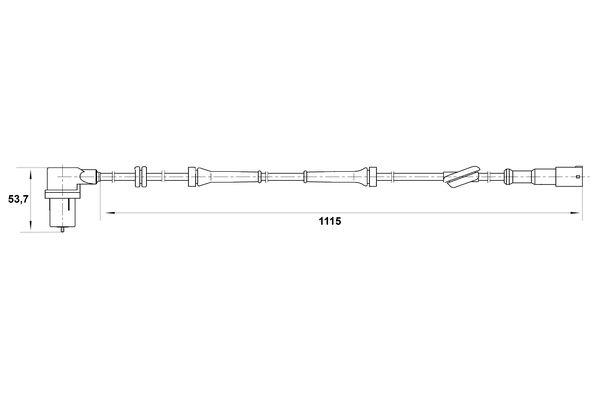 Capteur ABS BOSCH 0 265 006 163 (X1)