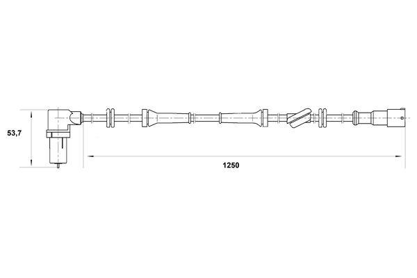 Capteur ABS BOSCH 0 265 006 164 (X1)