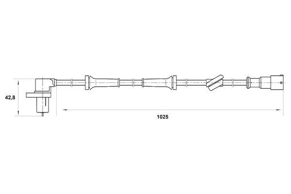 Capteur ABS BOSCH 0 265 006 197 (X1)