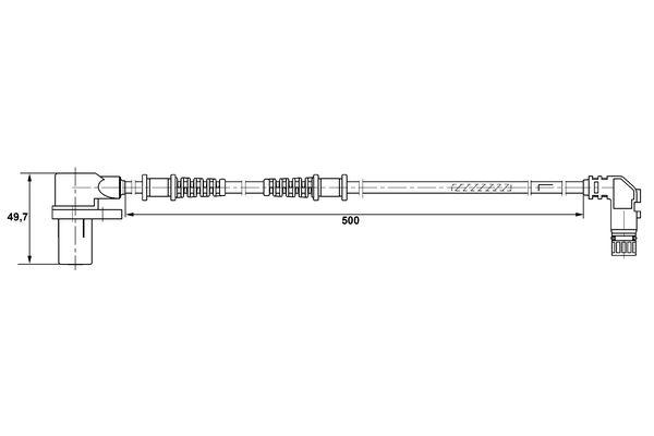 Capteur ABS BOSCH 0 265 006 266 (X1)