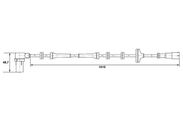 Capteur ABS BOSCH 0 265 006 305 (X1)
