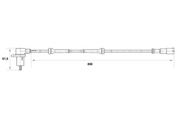 Capteur ABS BOSCH 0 265 006 364 (X1)