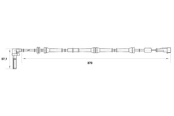 Capteur ABS BOSCH 0 265 007 016 (X1)