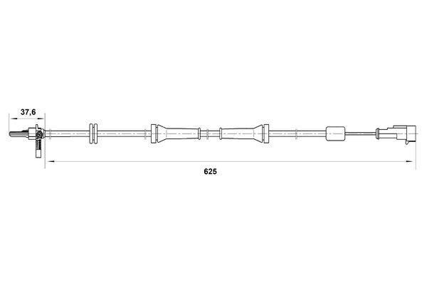 Capteur ABS BOSCH 0 265 007 018 (X1)