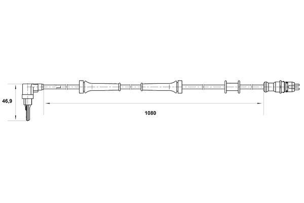 Capteur ABS BOSCH 0 265 007 035 (X1)