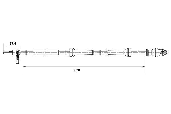 Capteur ABS BOSCH 0 265 007 045 (X1)