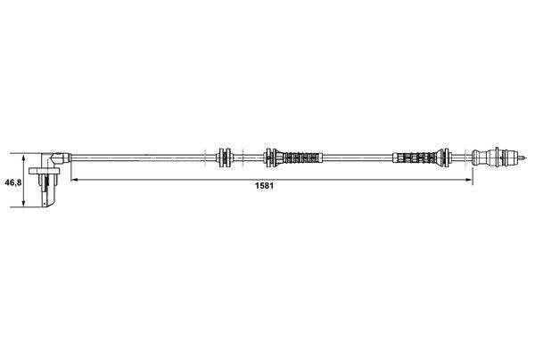 Capteur ABS BOSCH 0 265 007 528 (X1)