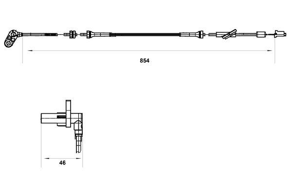 Capteur ABS BOSCH 0 265 007 552 (X1)