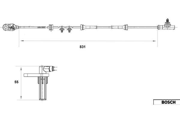 Capteur ABS BOSCH 0 265 007 559 (X1)