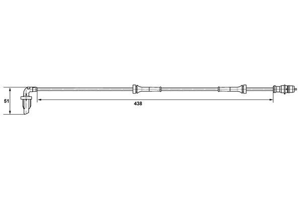 Capteur ABS BOSCH 0 265 007 582 (X1)