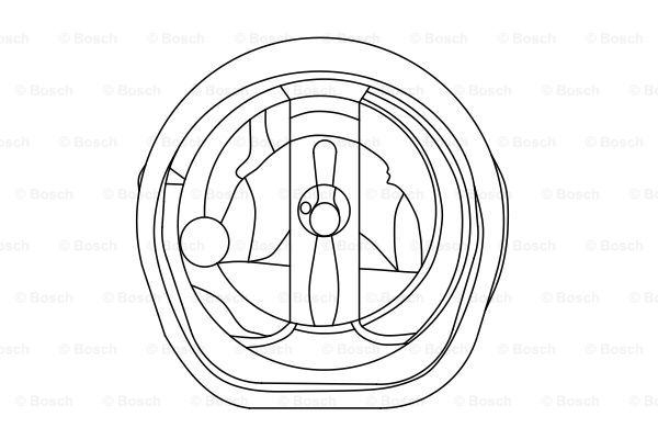 Optique / phare / feu BOSCH 0 318 504 009 (X1)