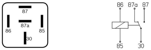 Relais, ABS BOSCH 0 332 204 202 (X1)