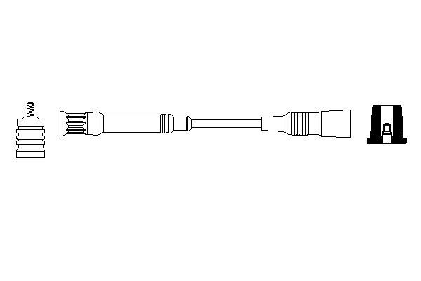 Cable de bobine d'allumage BOSCH 0 356 912 898 (X1)