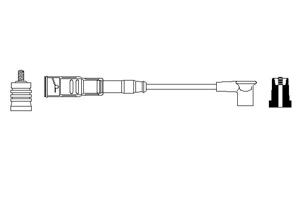 Cable de bobine d'allumage BOSCH 0 356 912 913 (X1)
