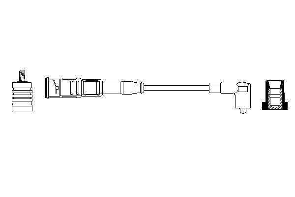 Cable de bobine d'allumage BOSCH 0 356 912 919 (X1)