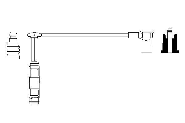 Cable de bobine d'allumage BOSCH 0 356 912 932 (X1)