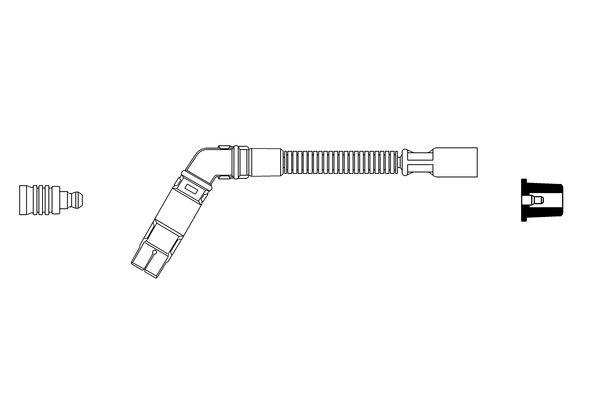 Cable de bobine d'allumage BOSCH 0 356 913 023 (X1)