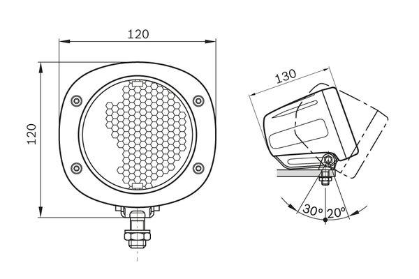 Projecteur de travail optique BOSCH 0 986 310 676 (X1)