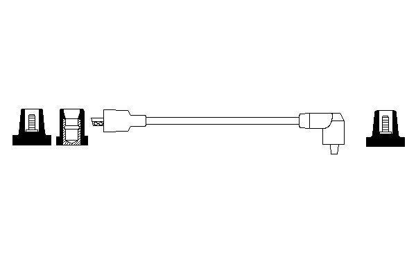 Cable de bobine d'allumage BOSCH 0 986 356 091 (X1)
