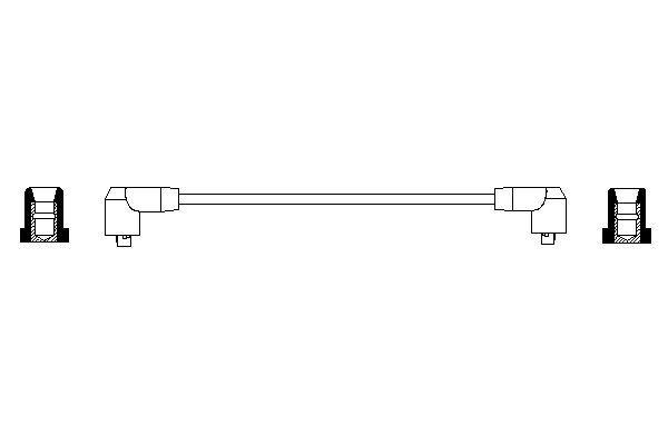 Cable de bobine d'allumage BOSCH 0 986 356 195 (X1)
