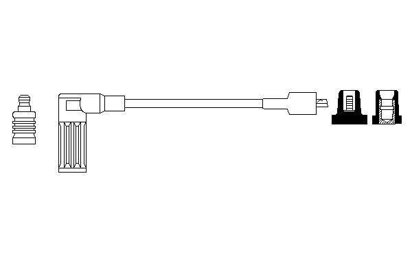 Cable de bobine d'allumage BOSCH 0 986 356 206 (X1)