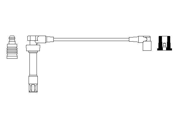 Cable de bobine d'allumage BOSCH 0 986 357 700 (X1)