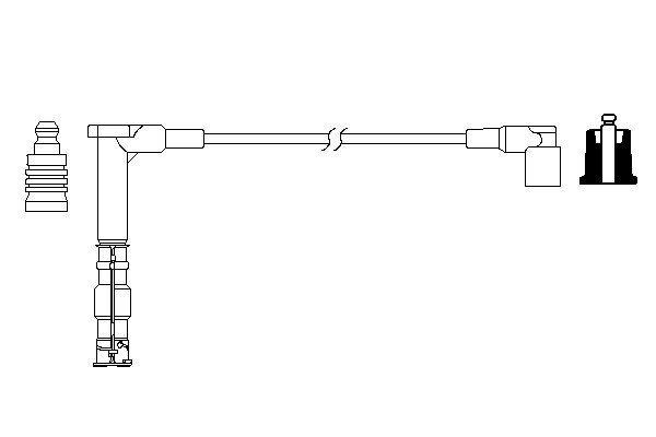 Cable de bobine d'allumage BOSCH 0 986 357 705 (X1)