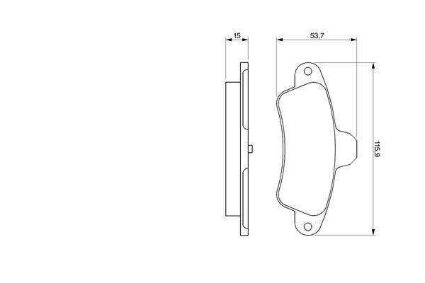 Kit de plaquettes de frein, frein à disque BOSCH 0 986 424 277 (Jeu de 4)