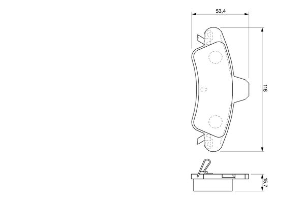 Kit de plaquettes de frein, frein à disque BOSCH 0 986 424 744 (Jeu de 4)
