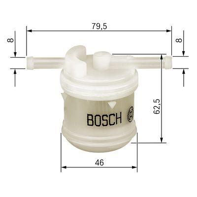 Filtre a carburant BOSCH 0 986 450 117 (X1)