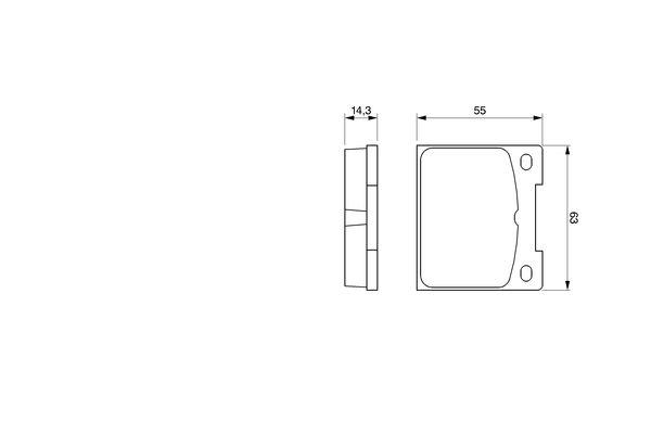 Kit de plaquettes de frein, frein à disque BOSCH 0 986 460 881 (Jeu de 4)