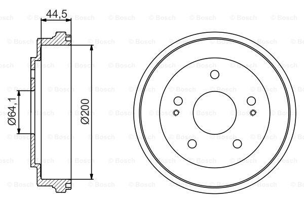 BORG BBR7151 Tambour de frein arrière