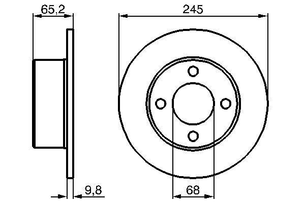 Disque de frein arriere BOSCH 0 986 478 073 (X1)