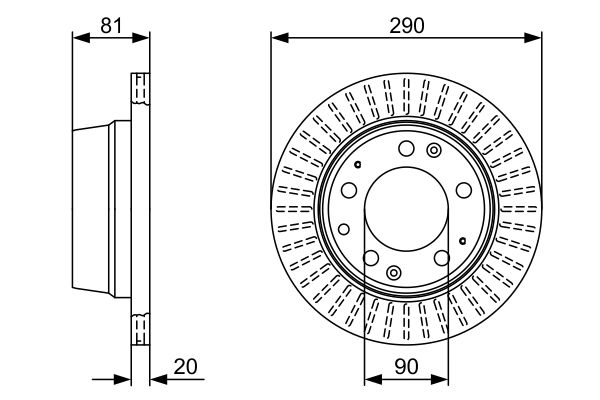 Disque de frein BOSCH 0 986 478 098 (X1)